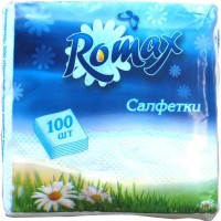 Бумажные салфетки Romax, белые, 100 шт