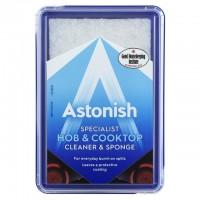 Специализированное чистящее средство для мытья варочных панелей и конфорок Astonish + губка, 250 г