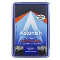 Специализированное чистящее средство для мытья плиты и гриля Astonish + губка, 250 г