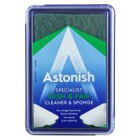 Специализированное чистящее средство для мытья посуды Astonish + губка, 250 г