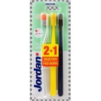 Зубная щетка Jordan Clean Smile, средней жесткости, 3 шт в упаковке