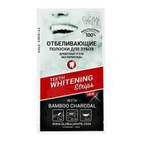 Отбеливающие полоски для зубов Global White древесный уголь, 1 саше
