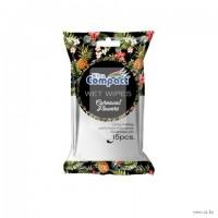 Влажные салфетки ULTRA COMPACT FLOWERS, 15 шт