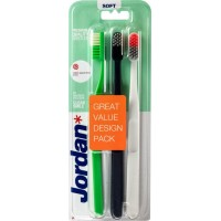 Зубная щетка Jordan Clean Smile, мягкая, 3 шт в упаковке