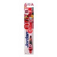Детская зубная щетка Jordan Step by step 6-9 (с держателем), мягкая