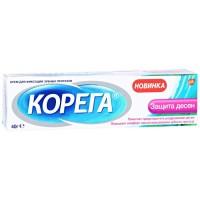 Крем для фиксации зубных протезов Корега Защита десен, 40 г