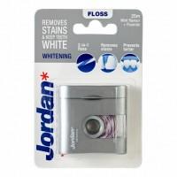 Зубная нить Jordan Whitening Dental Floss Отбеливающая, 25 м
