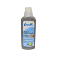 Жидкое средство для стирки цветного и белого белья Ecodoo с мылом Alep, 750 мл